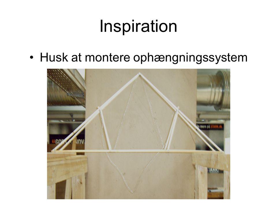 Inspiration Husk at montere ophængningssystem