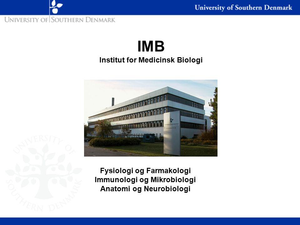 IMB Institut for Medicinsk Biologi Fysiologi og Farmakologi Immunologi og Mikrobiologi Anatomi og Neurobiologi