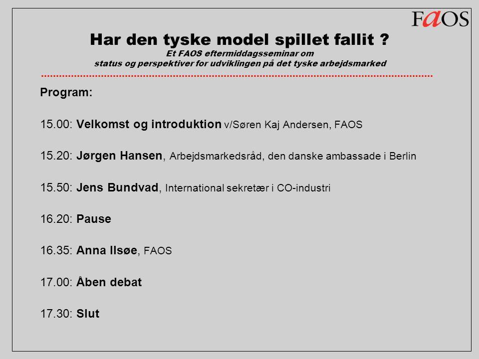 Har den tyske model spillet fallit .
