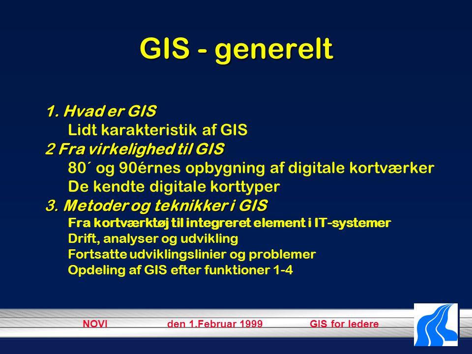 NOVI den 1.Februar 1999 GIS for ledere GIS - generelt 1.