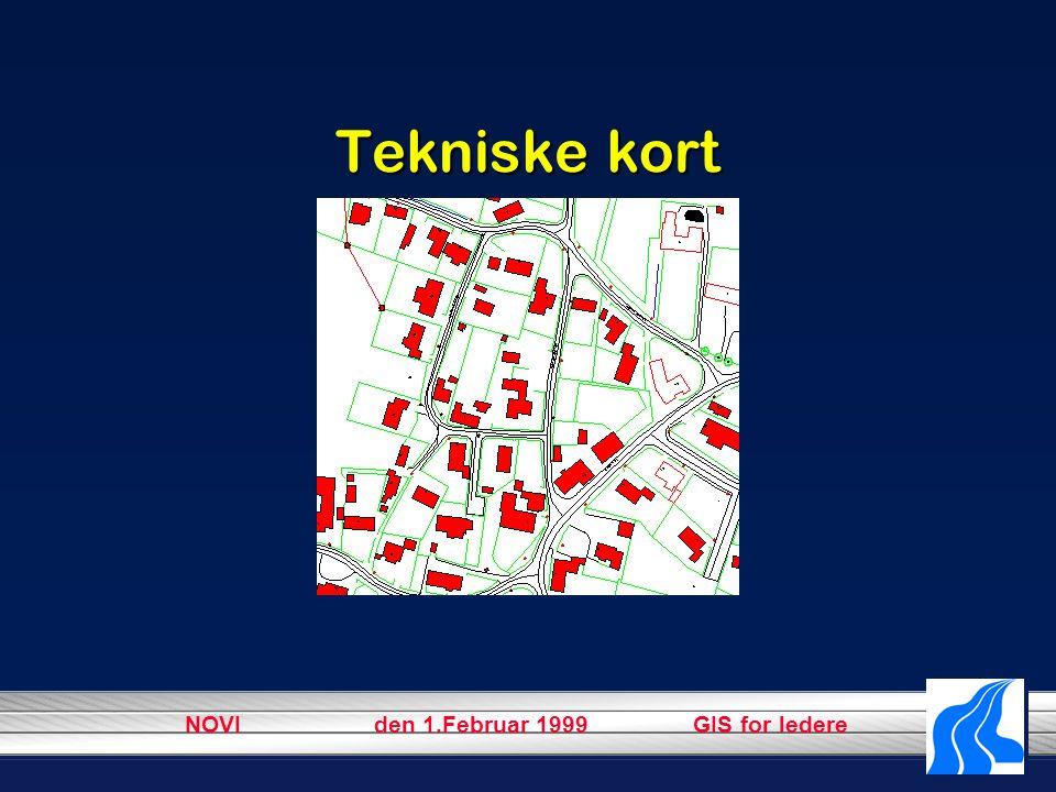 NOVI den 1.Februar 1999 GIS for ledere Tekniske kort
