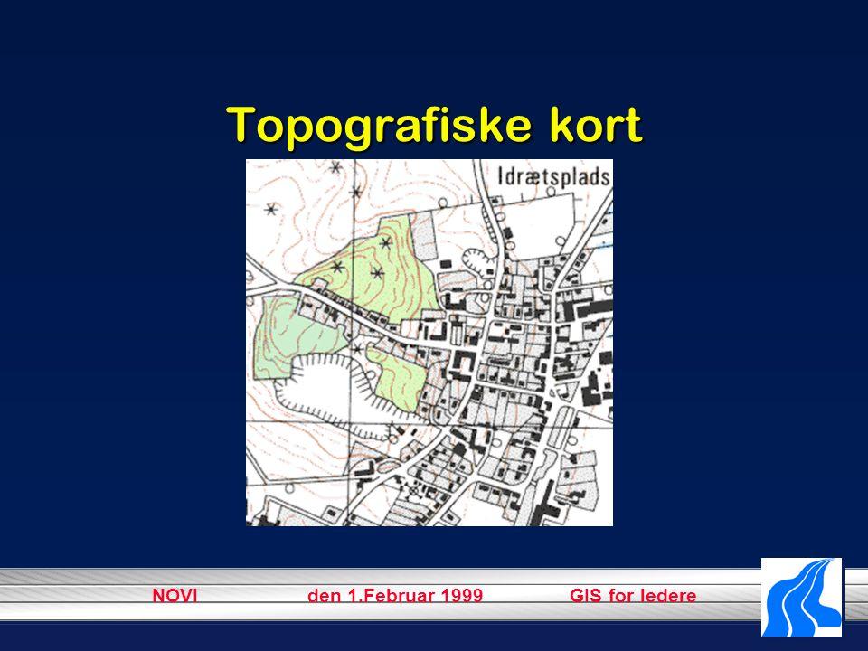 NOVI den 1.Februar 1999 GIS for ledere Topografiske kort