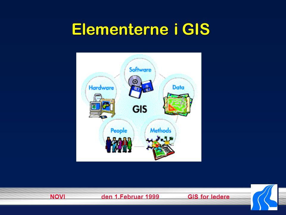 NOVI den 1.Februar 1999 GIS for ledere Elementerne i GIS