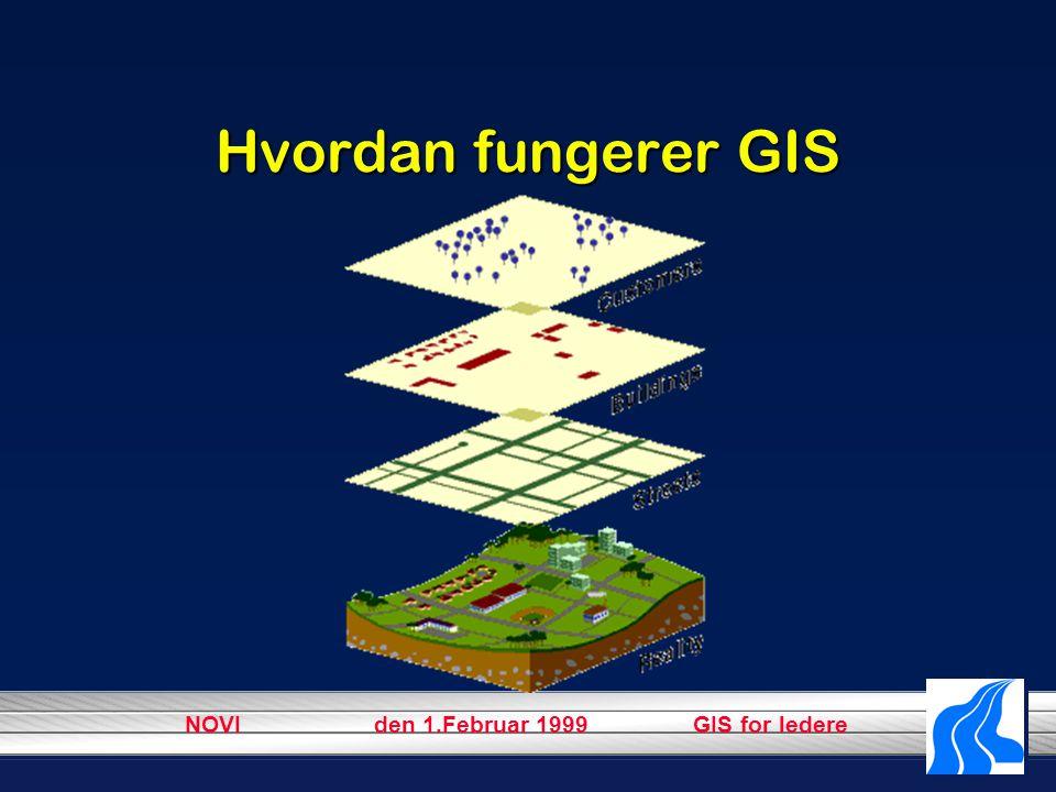 NOVI den 1.Februar 1999 GIS for ledere Hvordan fungerer GIS
