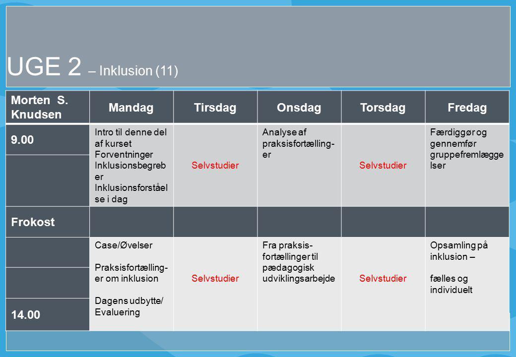 UGE 2 – Inklusion (11) Morten S.