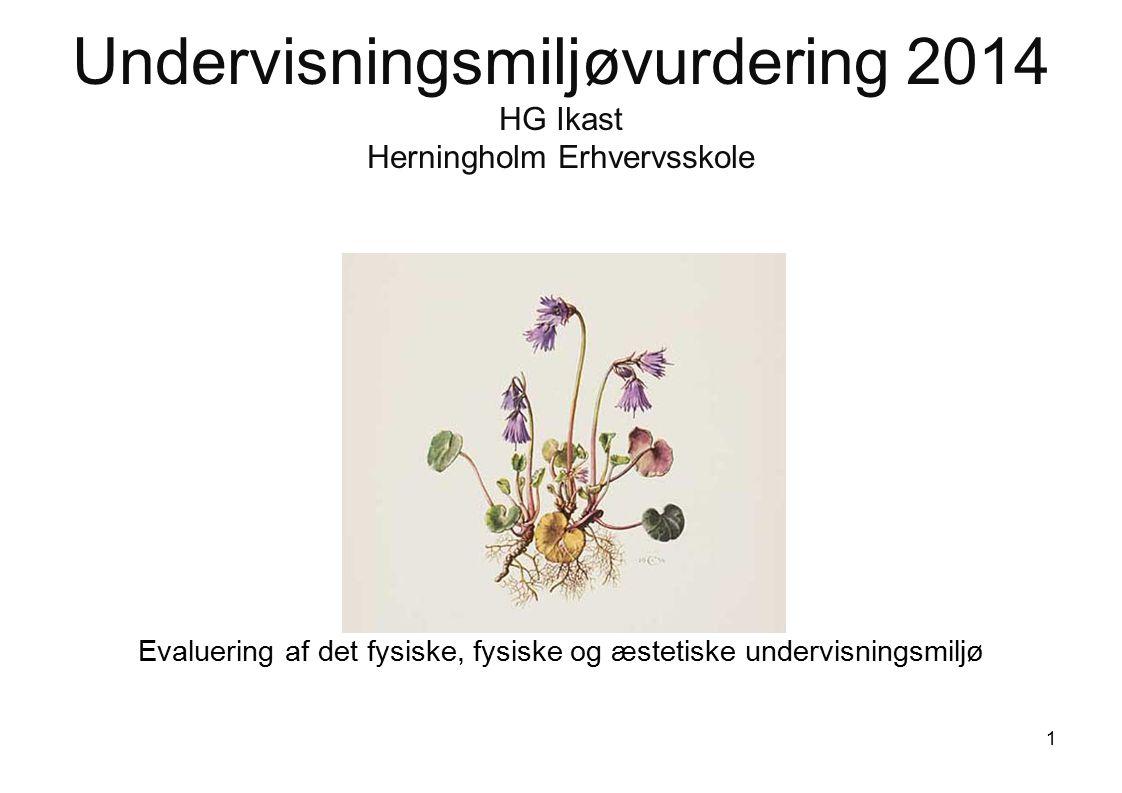 Undervisningsmiljøvurdering 2014 HG Ikast Herningholm Erhvervsskole Evaluering af det fysiske, fysiske og æstetiske undervisningsmiljø 1