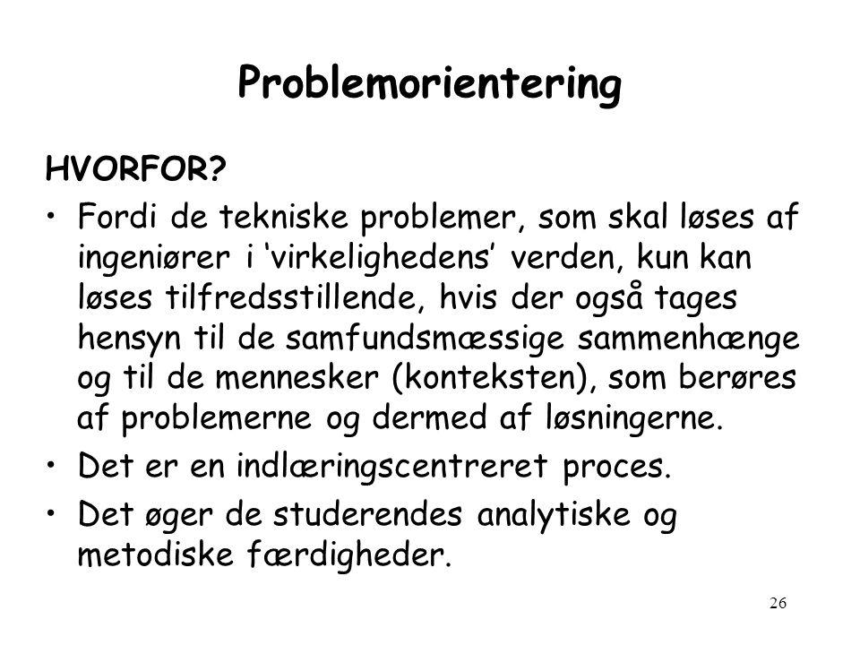 26 Problemorientering HVORFOR.