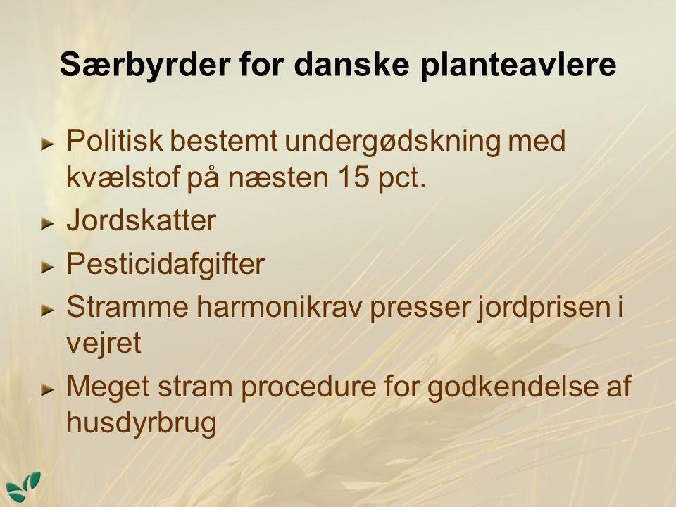 Særbyrder for danske planteavlere Politisk bestemt undergødskning med kvælstof på næsten 15 pct.