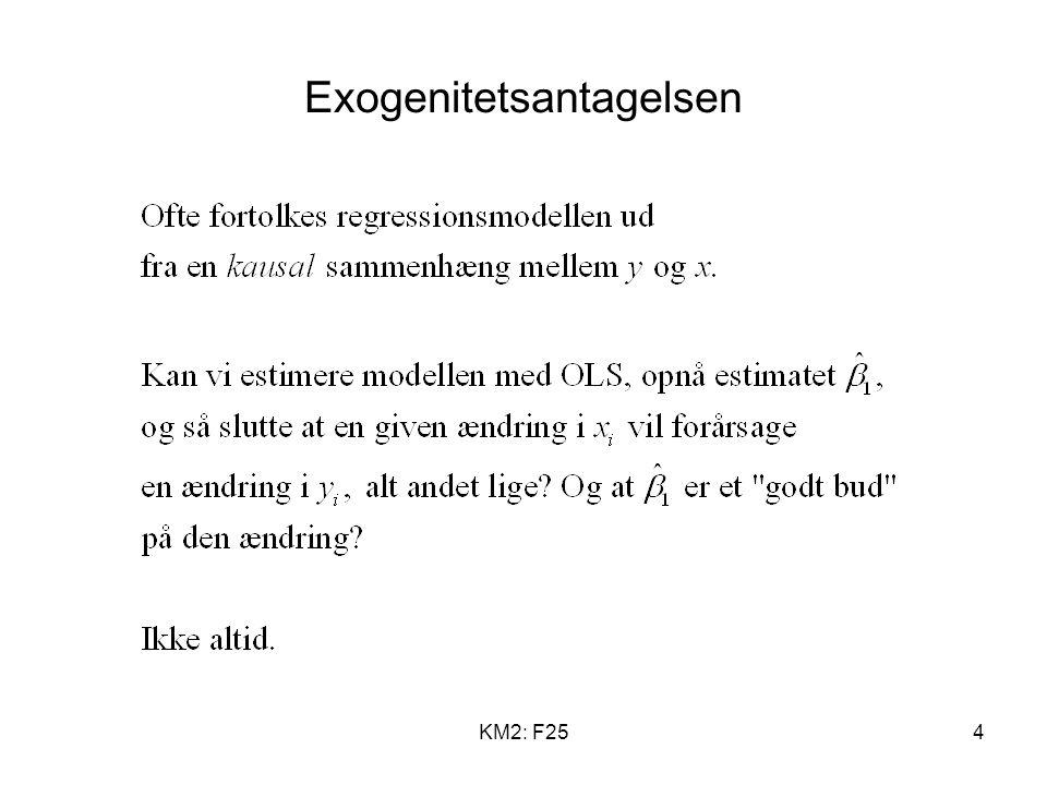 KM2: F254 Exogenitetsantagelsen