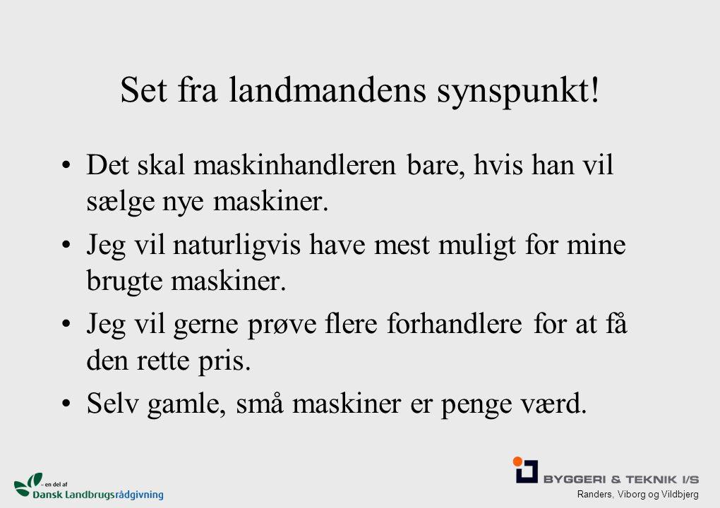 Randers, Viborg og Vildbjerg Set fra landmandens synspunkt.