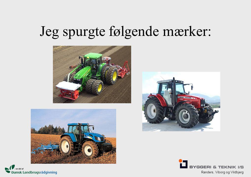 Randers, Viborg og Vildbjerg Jeg spurgte følgende mærker: