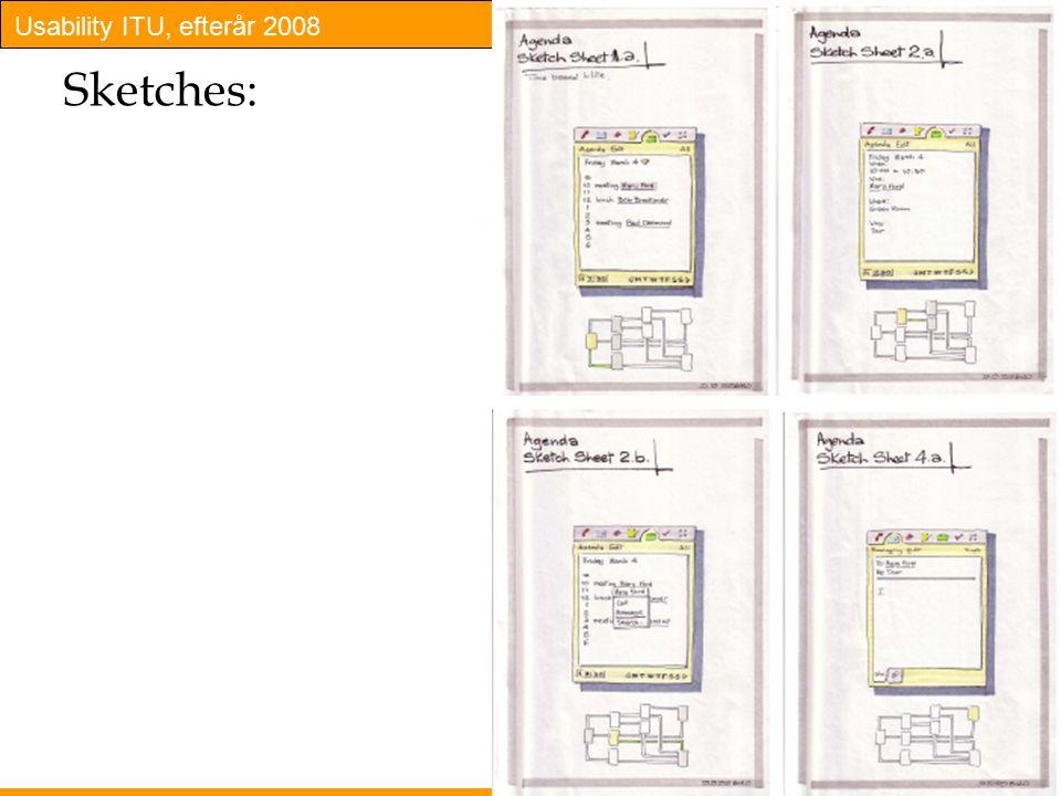 Usability ITU, efterår 2008 15 Sketches: