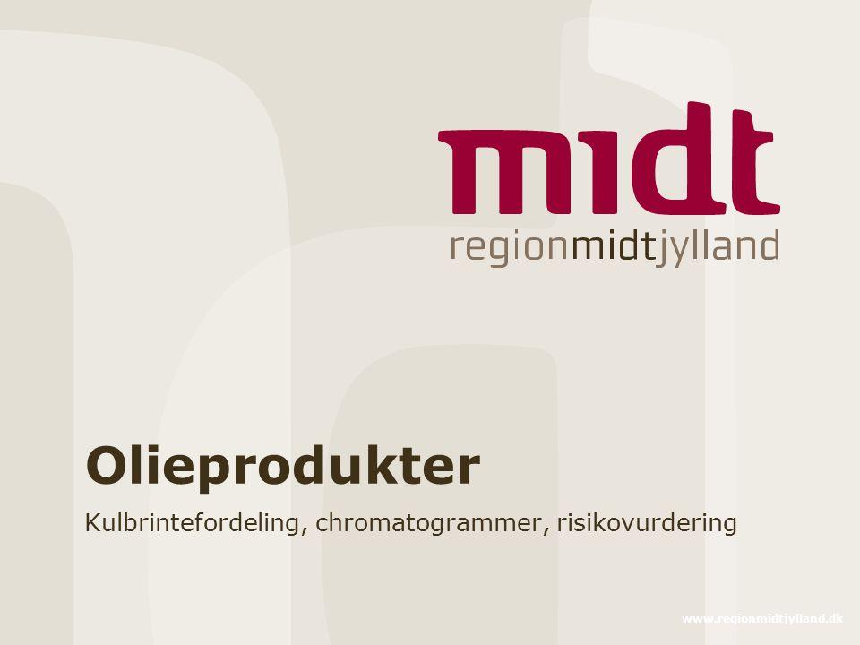 www.regionmidtjylland.dk Olieprodukter Kulbrintefordeling, chromatogrammer, risikovurdering