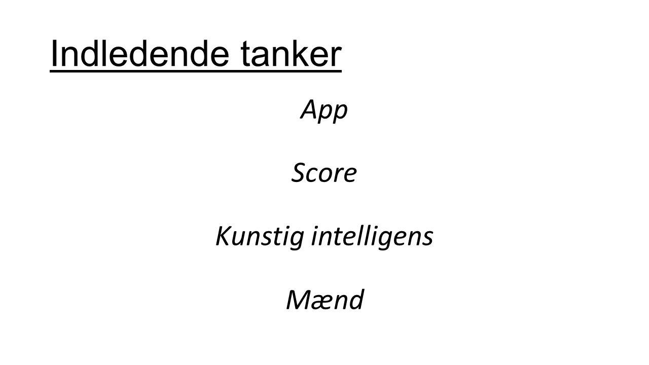 Indledende tanker App Score Kunstig intelligens Mænd