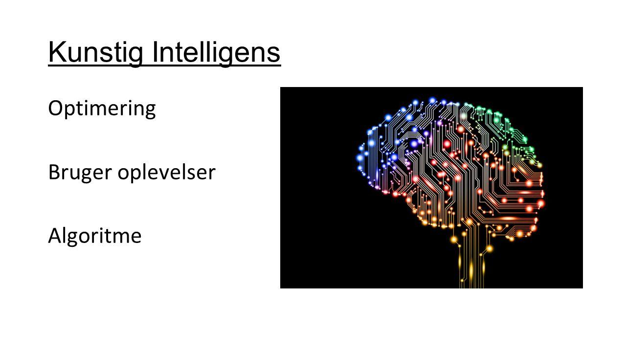 Kunstig Intelligens Optimering Bruger oplevelser Algoritme