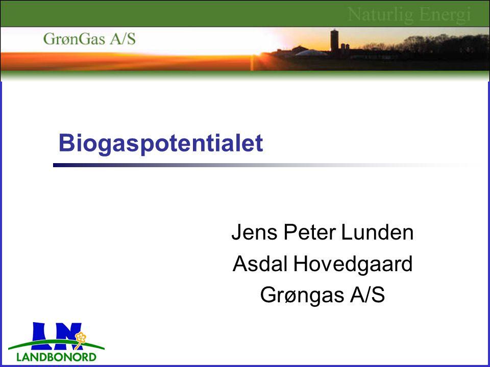 Biogaspotentialet Jens Peter Lunden Asdal Hovedgaard Grøngas A/S