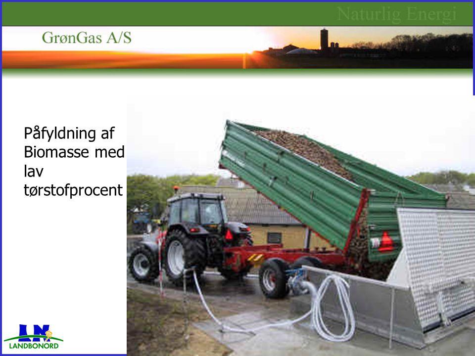 Påfyldning af Biomasse med lav tørstofprocent