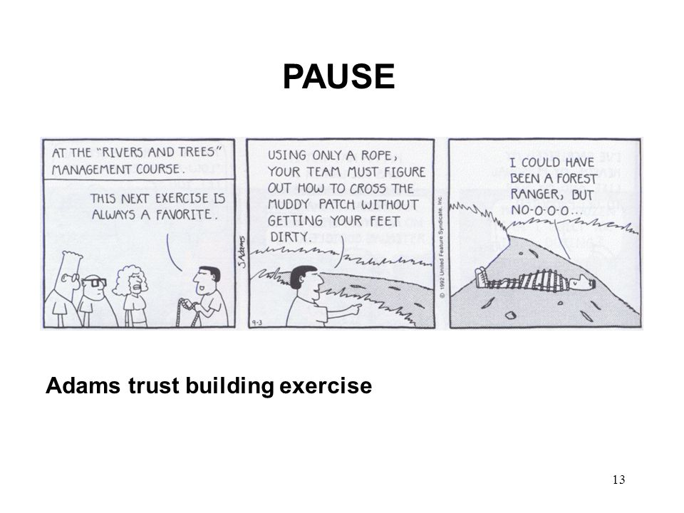 13 PAUSE Adams trust building exercise