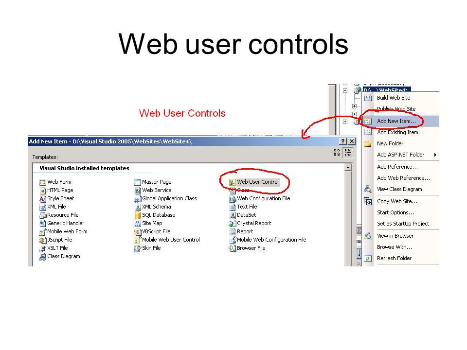 Web user controls