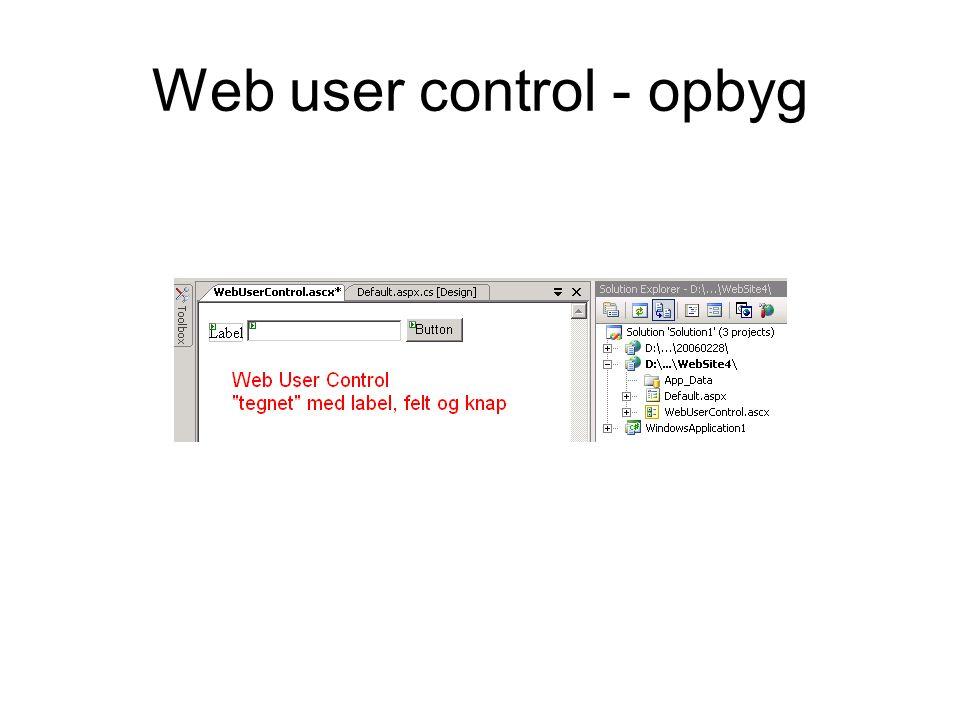 Web user control - opbyg
