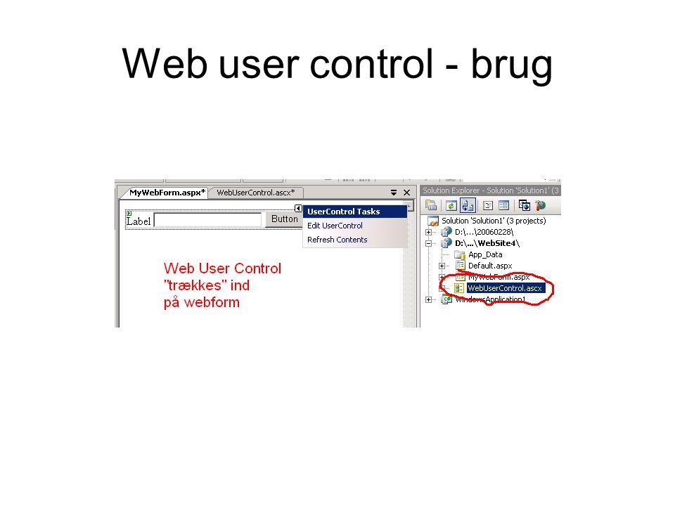 Web user control - brug
