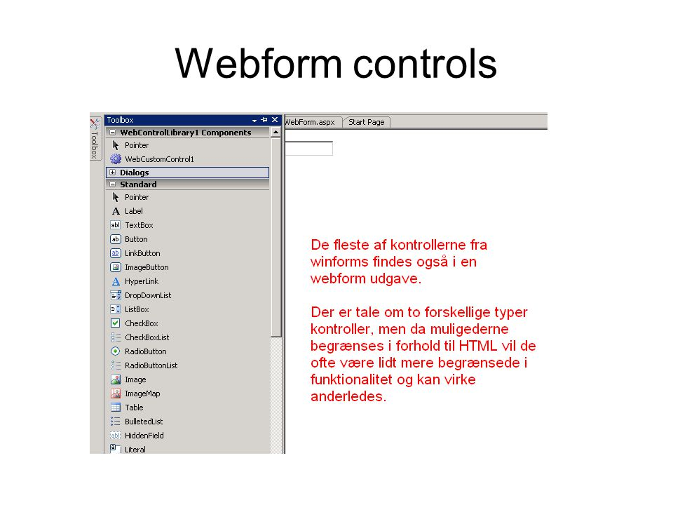 Webform controls