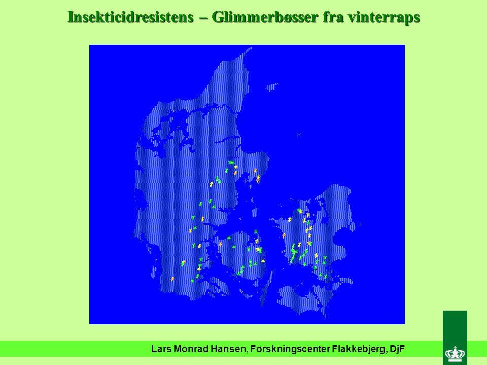 Lars Monrad Hansen, Forskningscenter Flakkebjerg, DjF Insekticidresistens – Glimmerbøsser fra vinterraps Karate