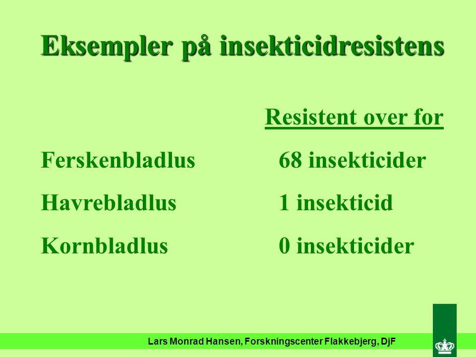 Lars Monrad Hansen, Forskningscenter Flakkebjerg, DjF Global udvikling i insekticidresistens
