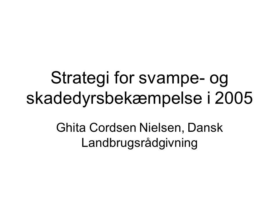 Strategi for svampe- og skadedyrsbekæmpelse i 2005 Ghita Cordsen Nielsen, Dansk Landbrugsrådgivning