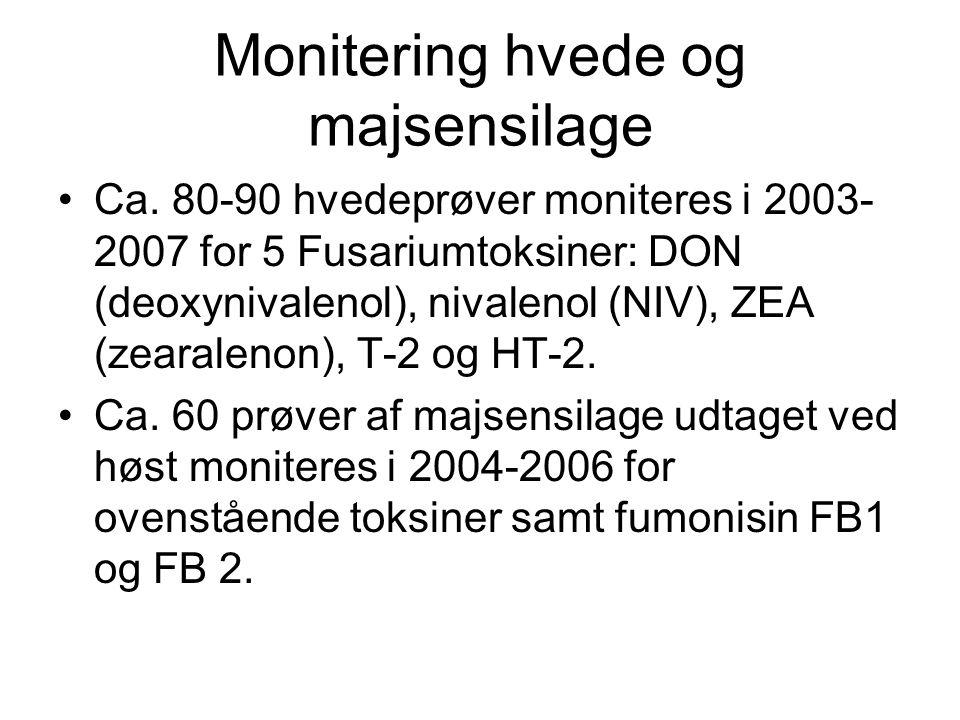 Monitering hvede og majsensilage Ca.
