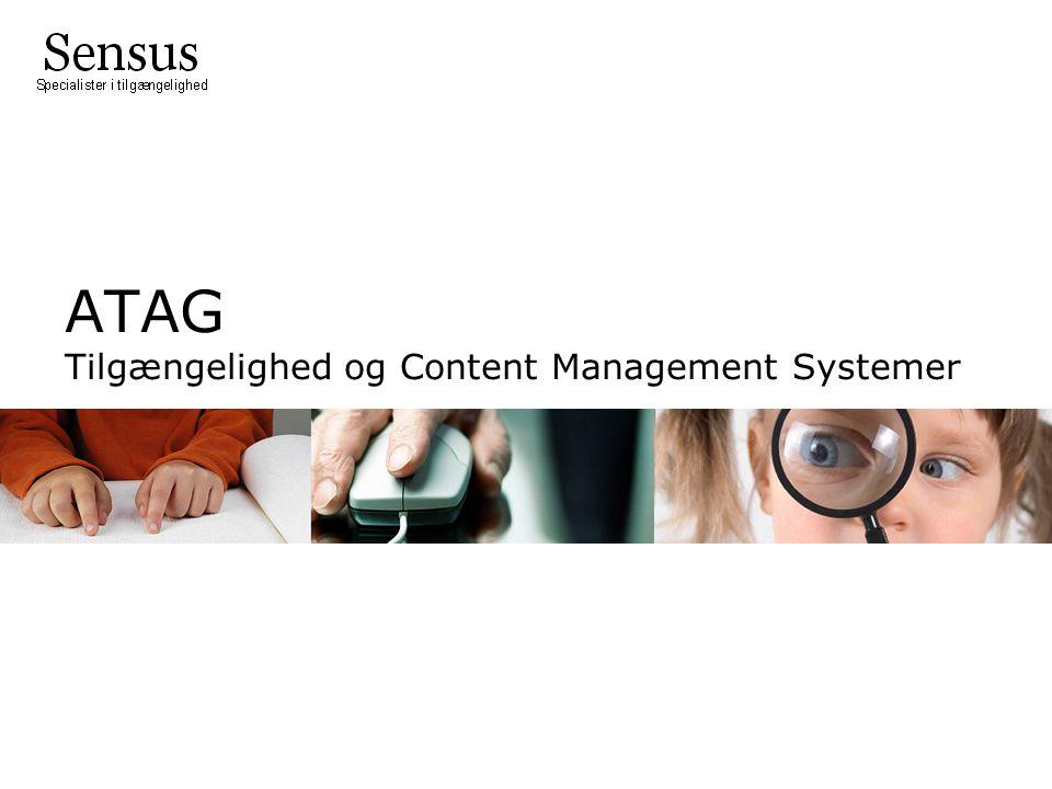 ATAG Tilgængelighed og Content Management Systemer