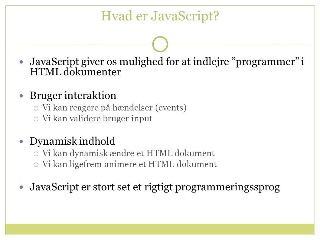 Hvad er JavaScript.