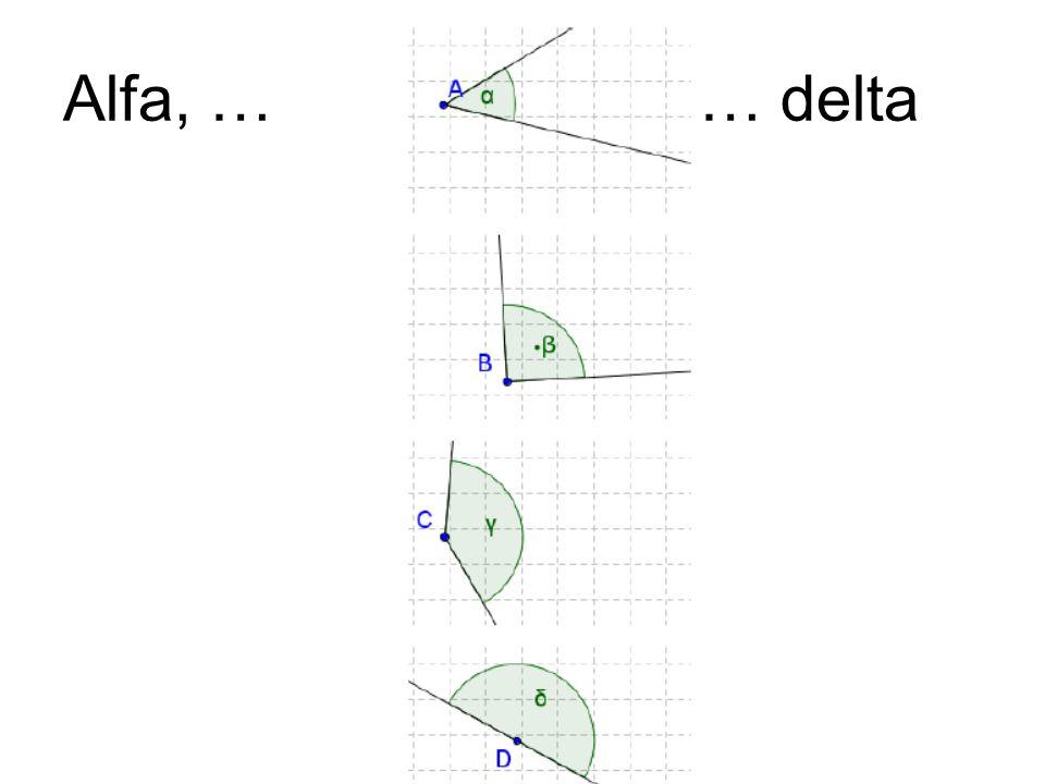 Alfa, … … delta