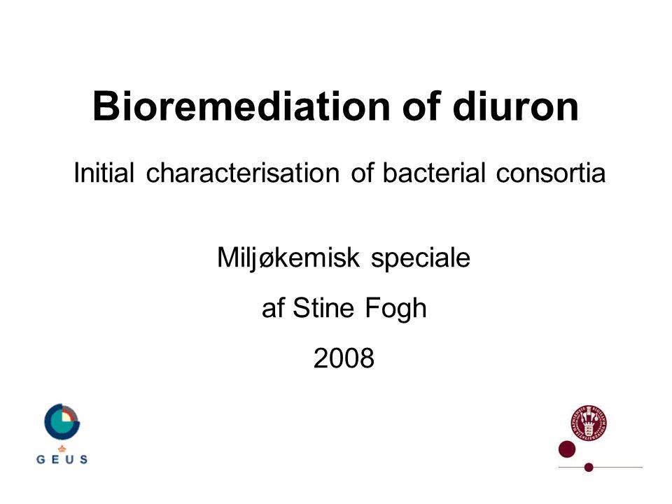 Bioremediation of diuron Initial characterisation of bacterial consortia Miljøkemisk speciale af Stine Fogh 2008
