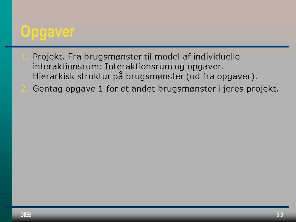 DIEB5.3 Opgaver 1.Projekt.
