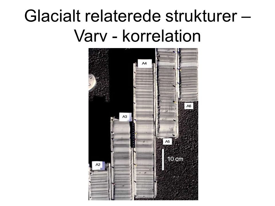 Glacialt relaterede strukturer – Varv - korrelation