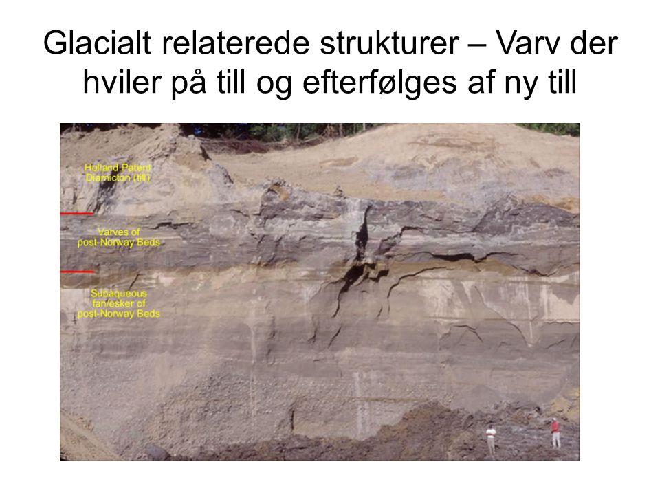 Glacialt relaterede strukturer – Varv der hviler på till og efterfølges af ny till