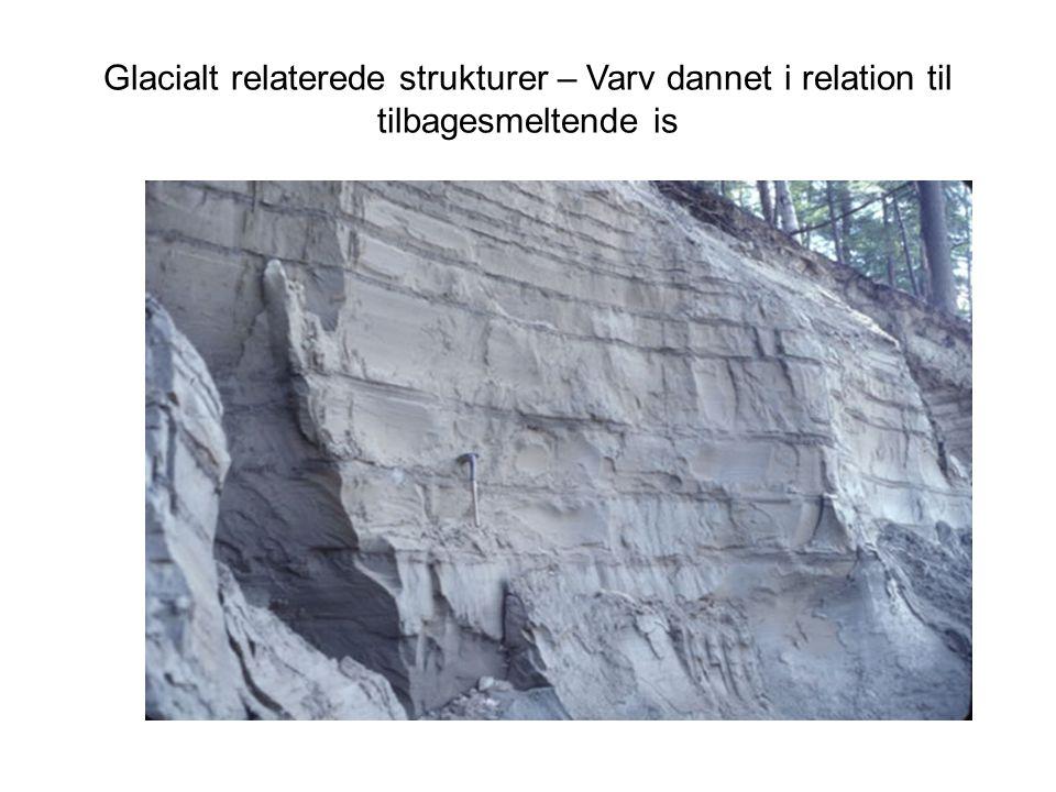 Glacialt relaterede strukturer – Varv dannet i relation til tilbagesmeltende is