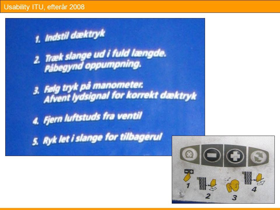 Usability ITU, efterår 2008 Slide 22