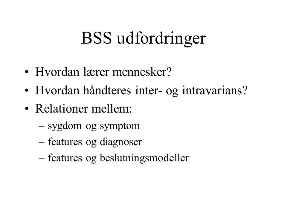BSS udfordringer Hvordan lærer mennesker. Hvordan håndteres inter- og intravarians.