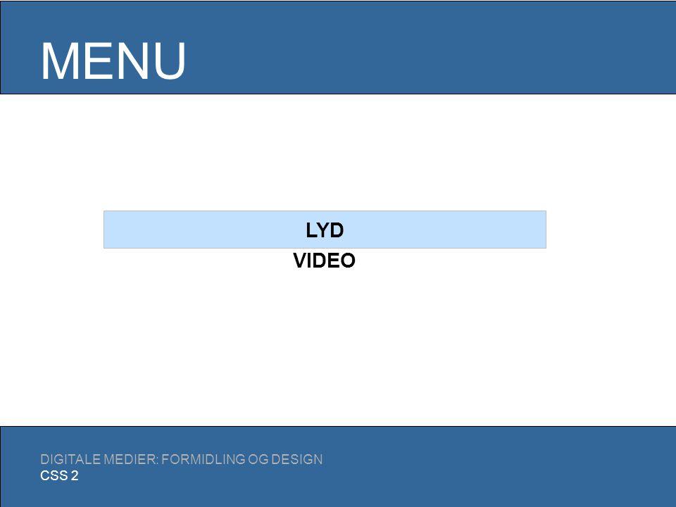 LYD OG VIDEO Digitale Medier E2006 15/11