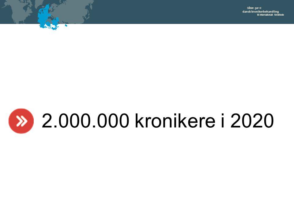 Sådan gør vi dansk kronikerbehandling til internationalt forbillede 2.000.000 kronikere i 2020