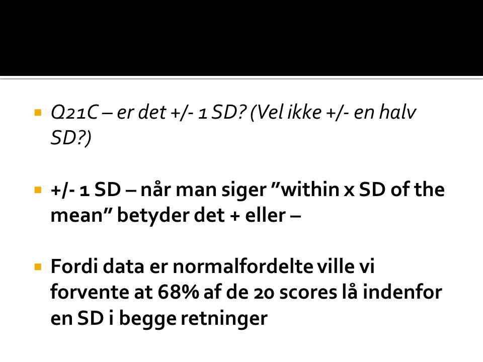  Q21C – er det +/- 1 SD.