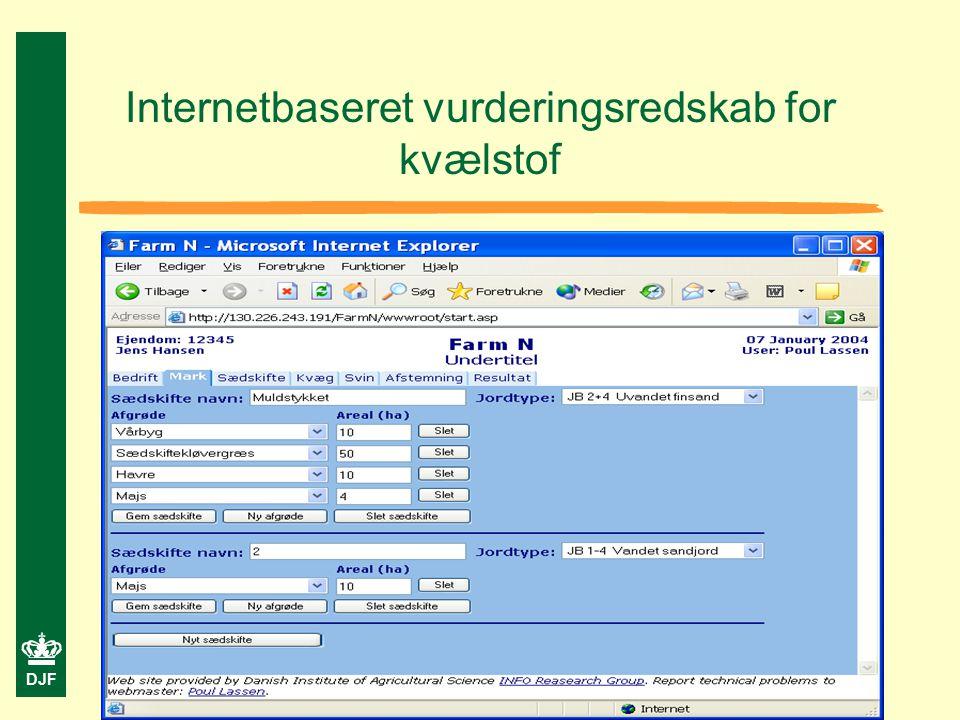 DJF Internetbaseret vurderingsredskab for kvælstof