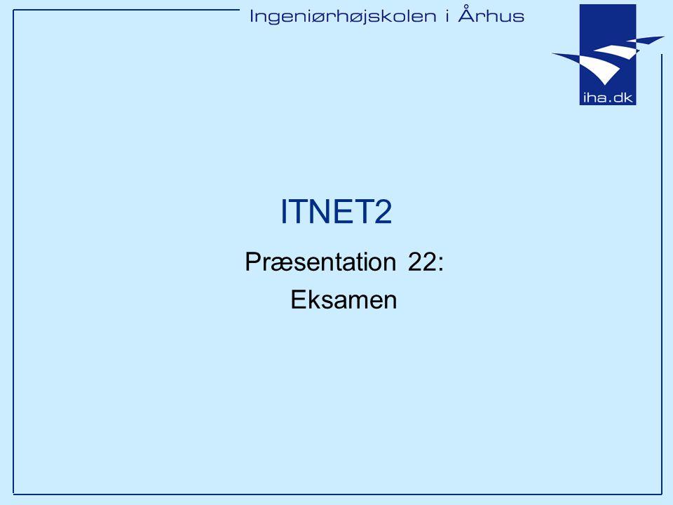 ITNET2 Præsentation 22: Eksamen