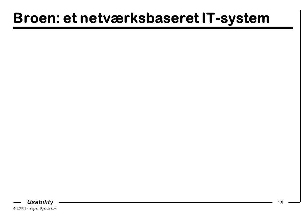 © (2001) Jesper Kjeldskov 1.8 Usability Broen: et netværksbaseret IT-system