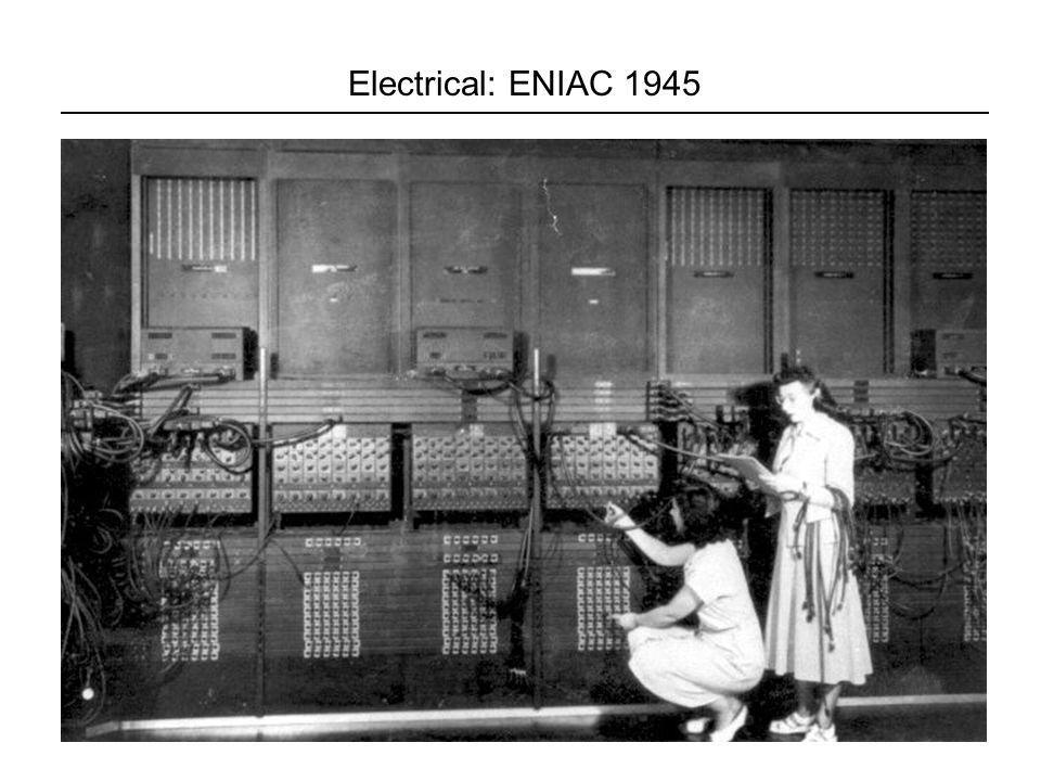 7/2 2007Lektion 431 Electrical: ENIAC 1945