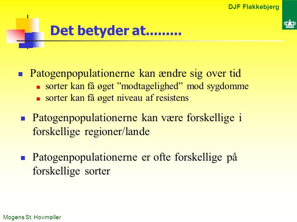 DJF Flakkebjerg Mogens St. Hovmøller Det betyder at.........