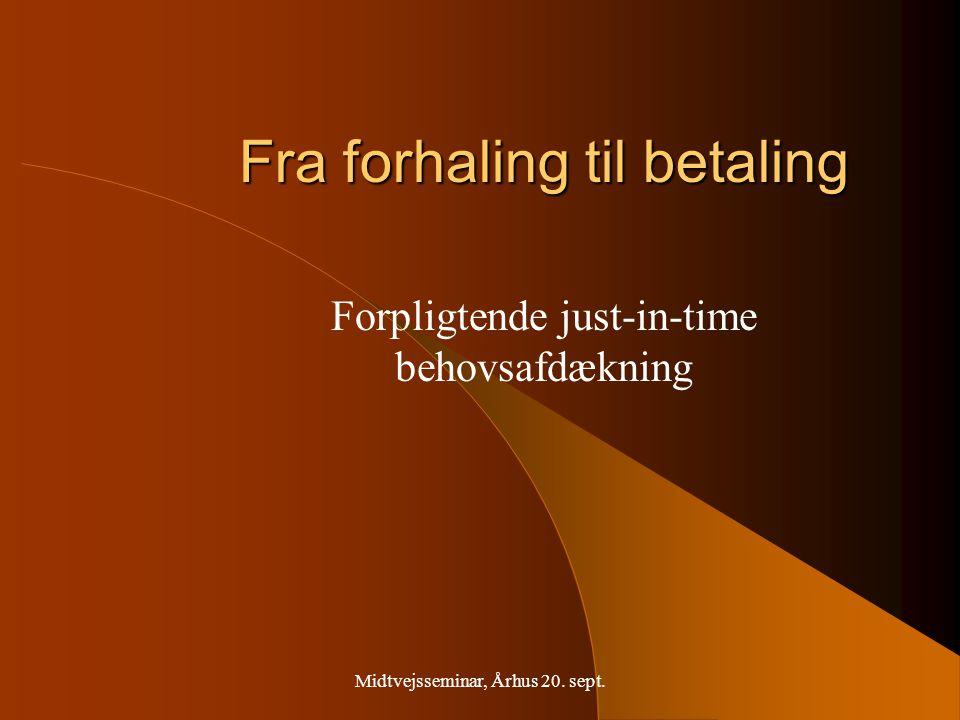 Midtvejsseminar, Århus 20. sept.