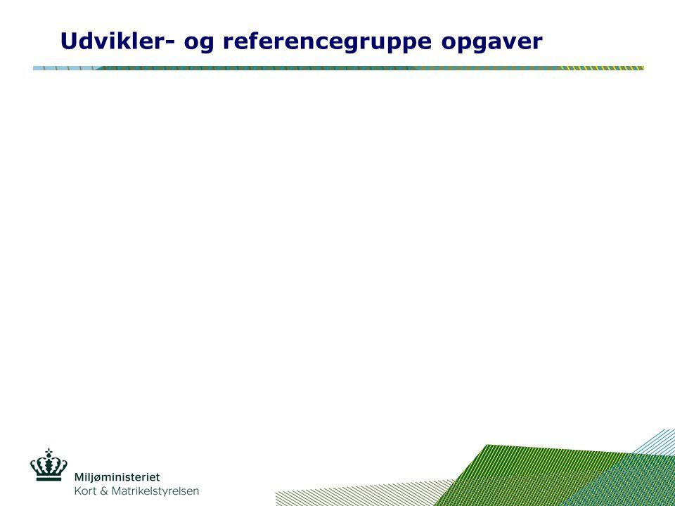Udvikler- og referencegruppe opgaver